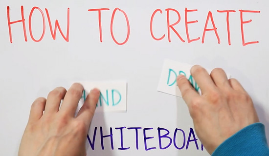 traditional whiteboard animation